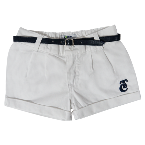 Short Blanco Con Cinto TC 19