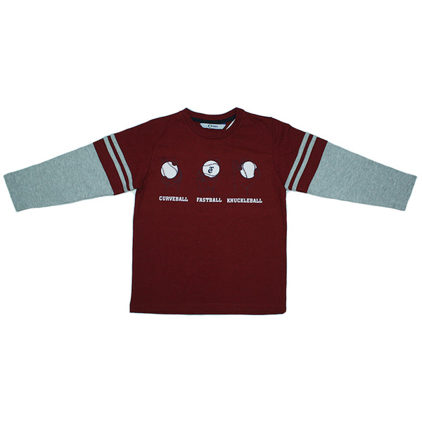 Playera TC Manga Larga Niño