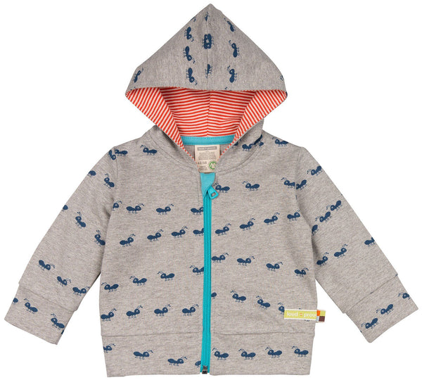 Organic Cotton Hooded Jumper - Ants