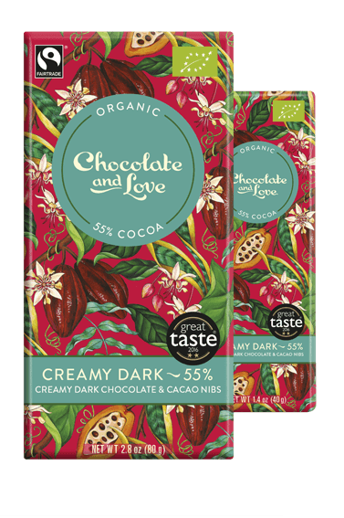 Chocolate Giftpack Full Of Love - Rich Dark, Pomegranate, Sea Salt, Creamy Dark