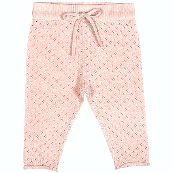 Wool Baby Pants - Pale Pink