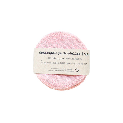5-pack Reusable Cotton Pads in Rose