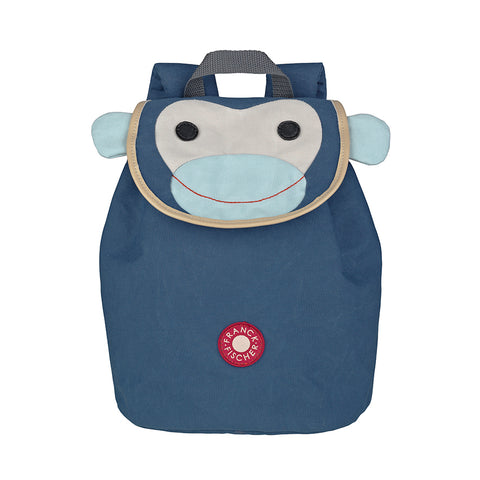 Child Sized Backpack - Blue Monkey