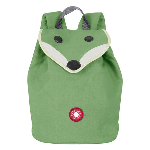 Danish design sustainable children's green fox backpack