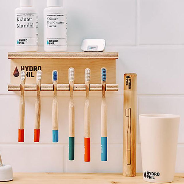 Sustainable Bamboo Cup - Toothbrush Tumbler