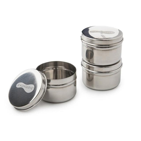 Stainless Steel Mini Food Containers (Set of 3)