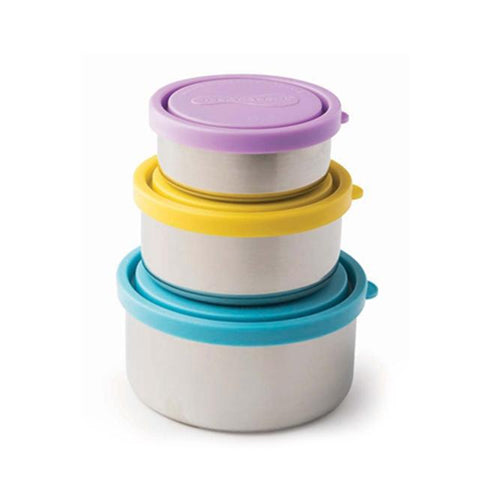 Stainless Steel Nesting Containers (Set of 3) in Different Colors