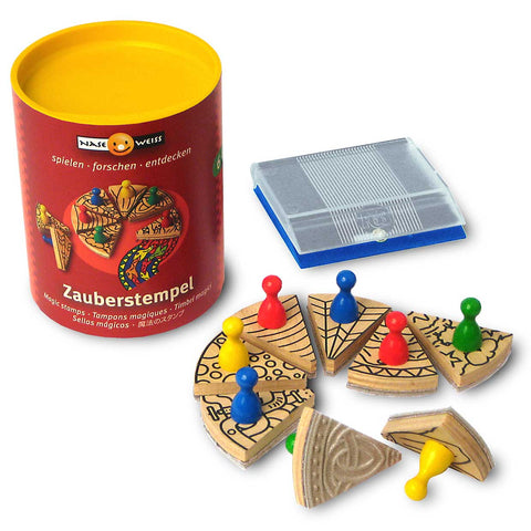 Naseweiss Magic Stamp Wooden Toy Set Lushbutik Copenhagen