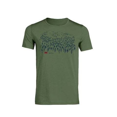 Green T-shirt with Nature print