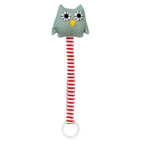 Handmade Organic Cotton Soother Holder - Owl
