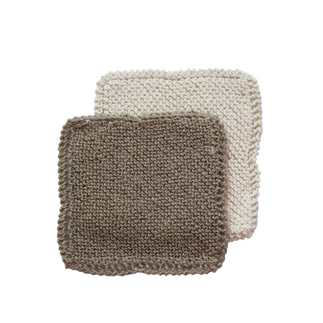 Handmade Organic Cotton and Natural Jute Kitchen Scrubbers