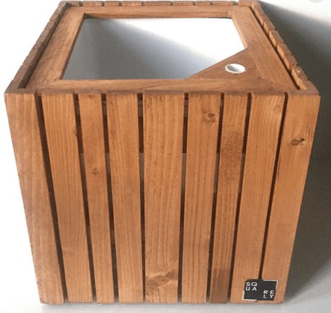 Hand-Made Self-Watering Wooden Planter