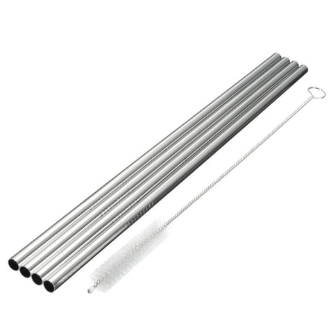 Stainless steel straight straws, an alternative to plastic