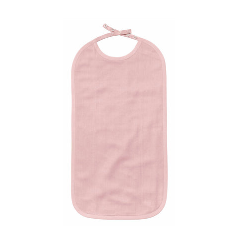 Long Bib in Organic Cotton - Dusty Pink