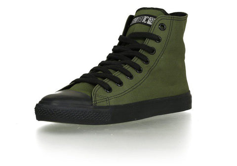 Fair Vegan Trainers Black Cap in Camping Green