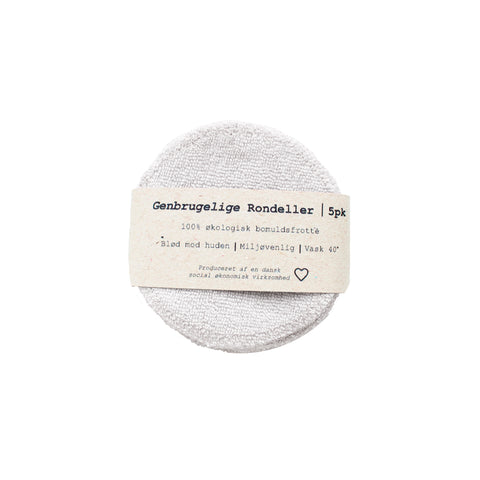 5-pack Reusable Cotton Pads in white