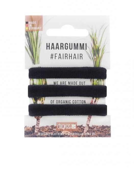 Set of 3 fair and organic cotton hairbands in black color