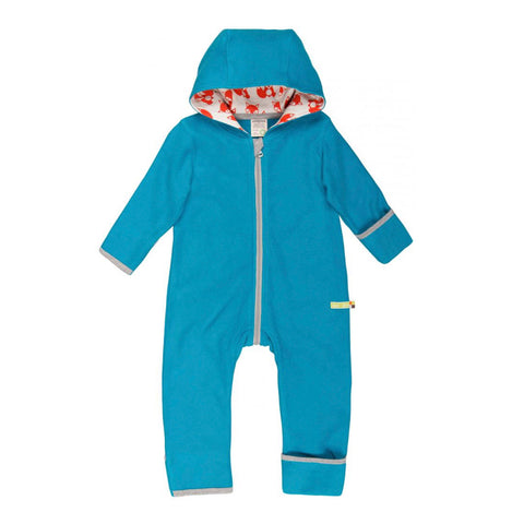 Organic Cotton Baby Fleece Suit in Blue
