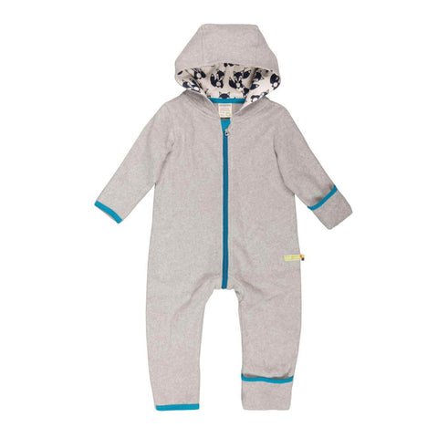 Organic Cotton Baby Fleece Suit in Grey