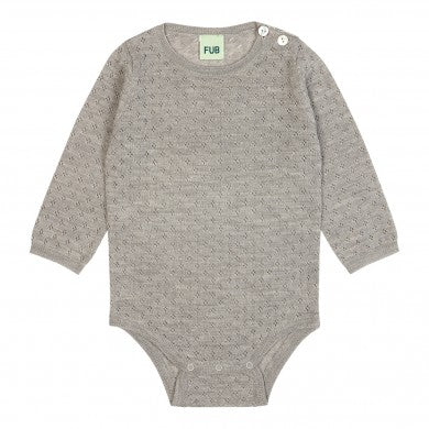 Wool Baby Body - Grey