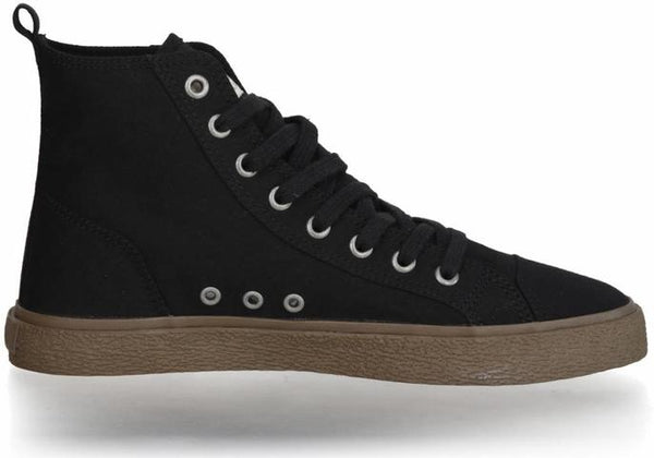 Fair Vegan Sneakers High Cut in Jet Black