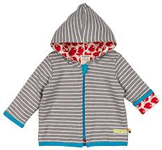 Organic Cotton Hooded Jumper - Stripes