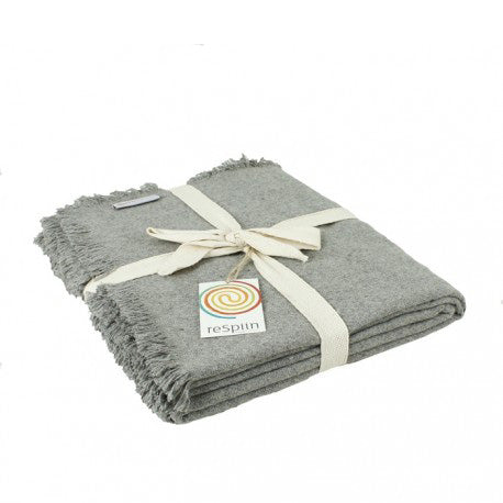 Recycled Wool Blanket - Light Grey