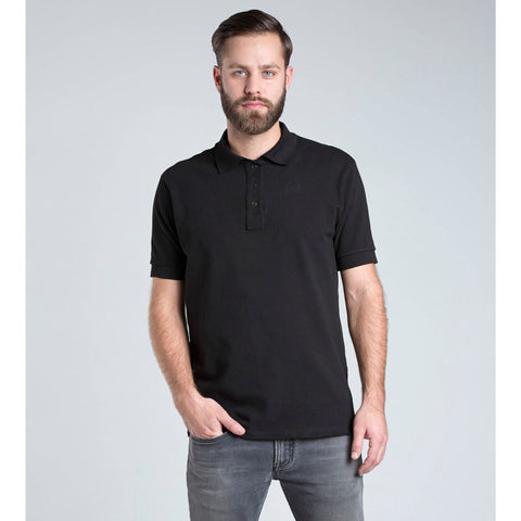 Black Organic Cotton Polo for Men