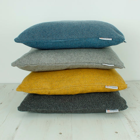Recycled Wool Cushion- Various Colours