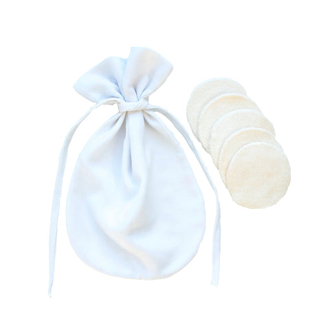 5-pack Cotton Pads and Washbag