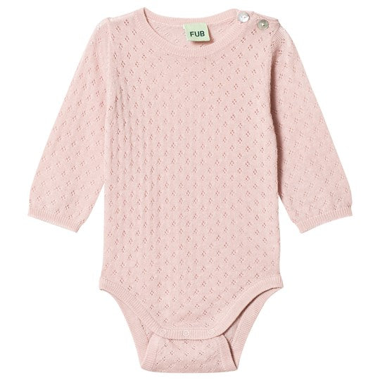 Wool Baby Body - Pale Pink
