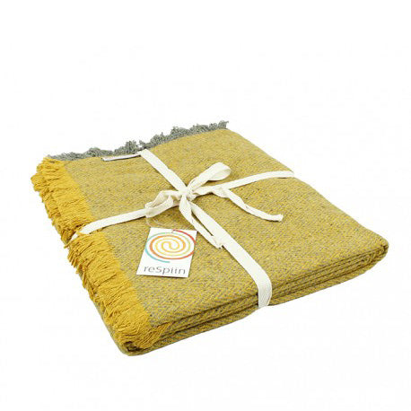 Recycled Wool Blanket - Yellow