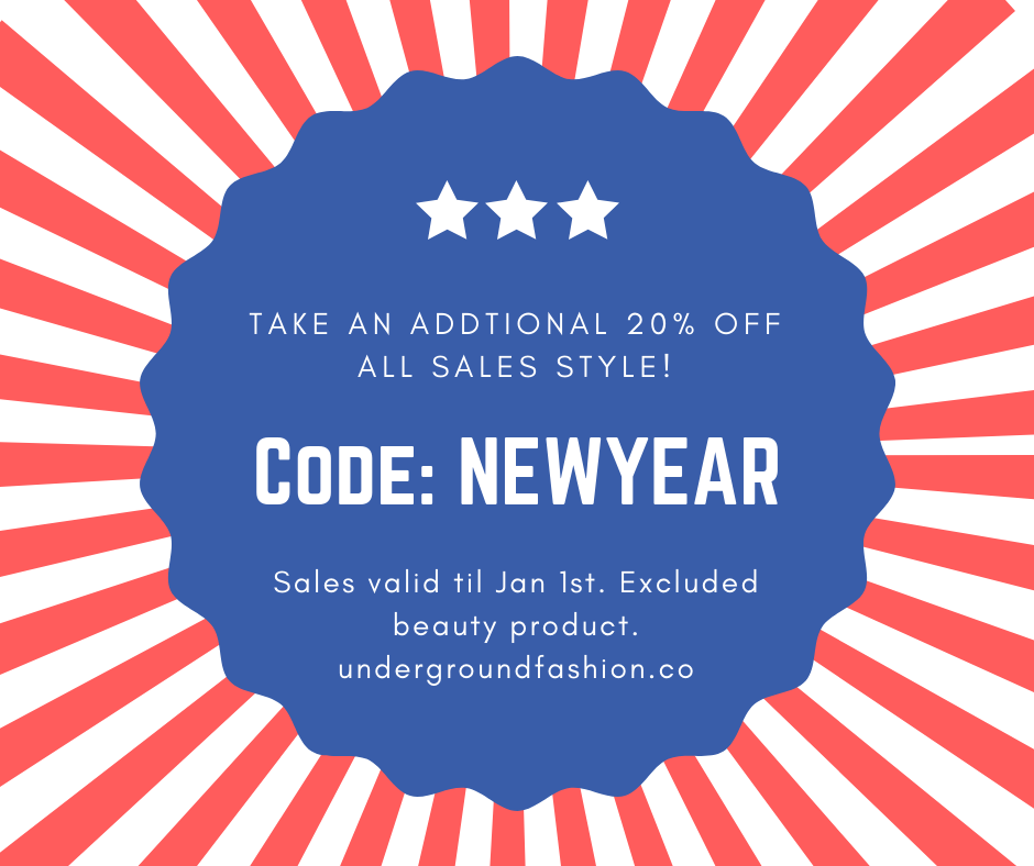 New Years 3 Day Flash Sale!