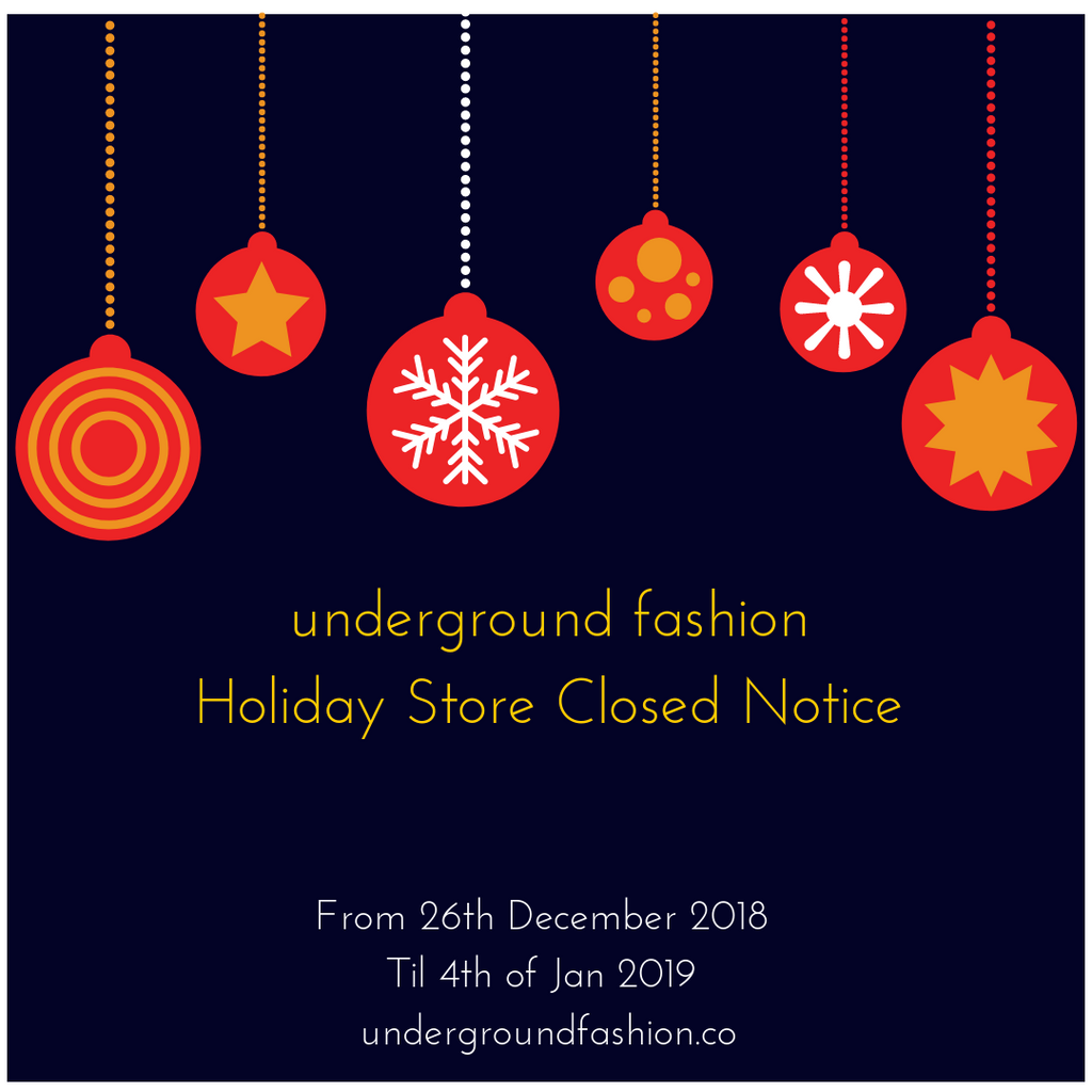 Holiday Store Closure Notice