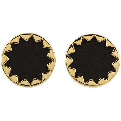 Sunburst Button Earrings
