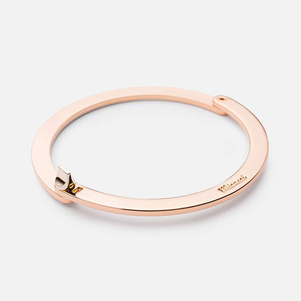 WASHER CUFF ROSE GOLD PLATED POLISHED