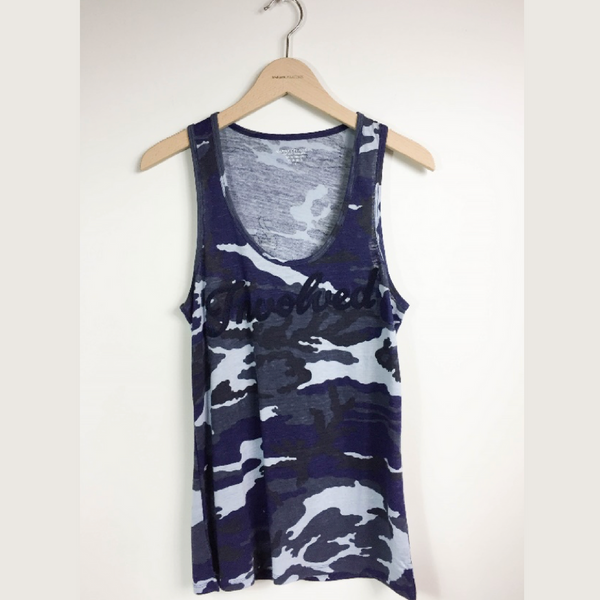 CAMO PRINT SCOOP NECK TANK