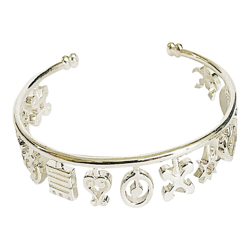 Nana Charm Bangle - Silver - Lonam Jewellery