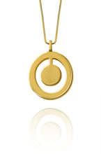 Double Circle Coin Pendant - Gold - Lonam Jewellery