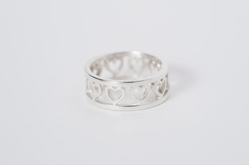 Heart Ring - Silver - Lonam Jewellery