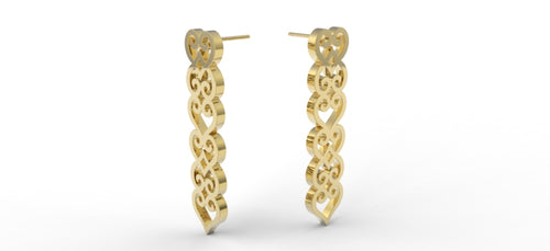 Cocoa Earrings - Gold - Lonam Jewellery