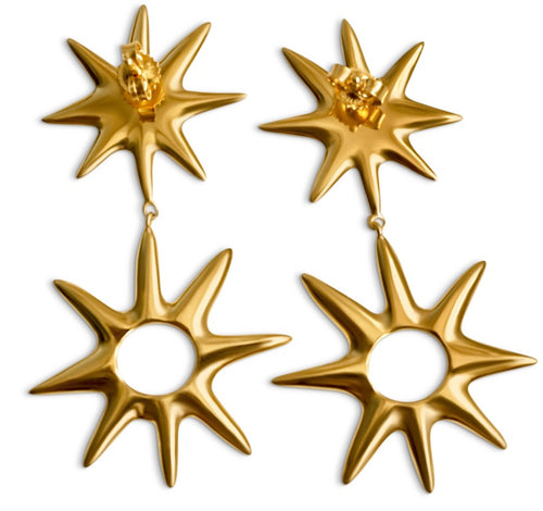 Starlight Earrings - Gold - Lonam Jewellery