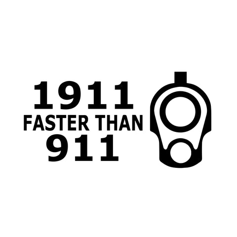 1911 Faster Than 911 Vinyl Stickers for Cars Laptops Walls