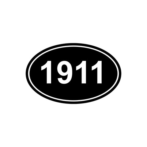 1911 Oval Car Window  iPad Tablet PC Notebook Laptop Decal Sticker