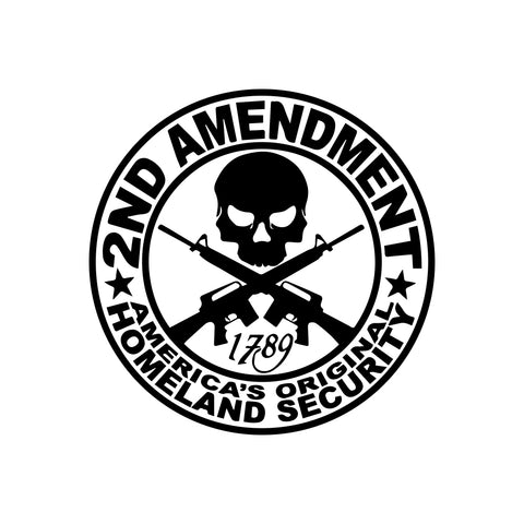 2nd Amendment 1789 Homeland Security Sticker