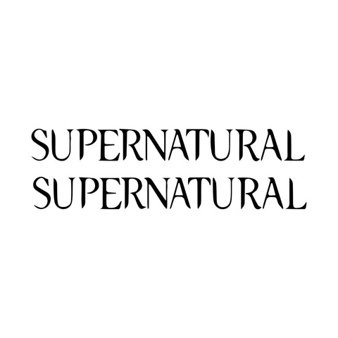 2x Supernatural Vinyl decal stickers for car laptop wall truck window