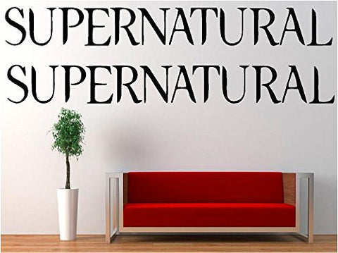 2x Supernatural Logo Vinyl Decal Sticker for Car Laptop Wall Truck Windows - MyMonkeySticker.com
