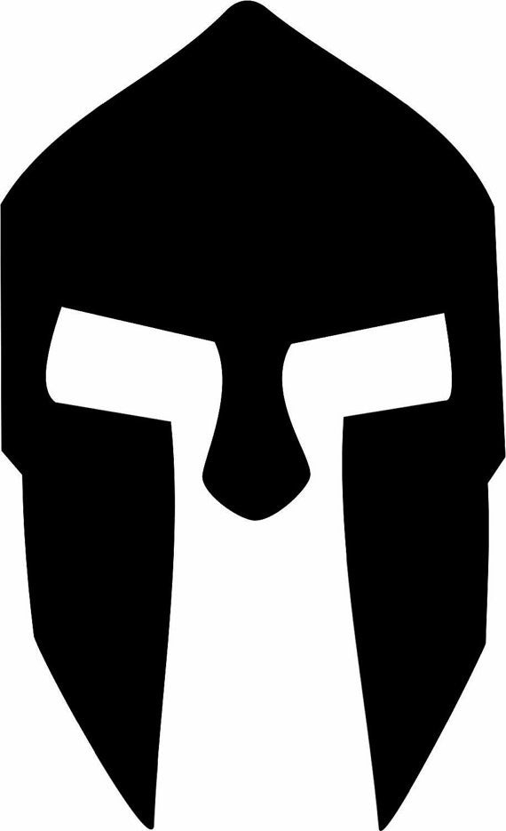 300 Spartan Helmet movie Adhesive Decal Sticker Vinyl Decorative for Wall Car Auto Ipad Macbook Laptop - MyMonkeySticker.com