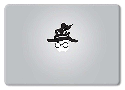 Harry Potter Sorting Hat and Glasses Decal Vinyl Sticker Macbook Apple Mac Air Pro Retina Laptop - MyMonkeySticker.com