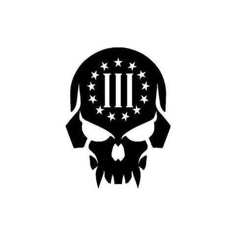 3 Percenter Tattoo Skull Decals Car Vinyl Stickers water resistant and long lasting